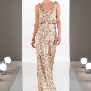 Sorella Vita 8938 Gold Sequin Dress sz 10 (14)